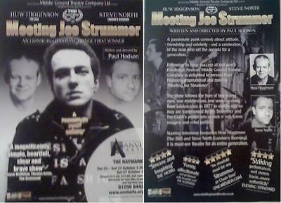 Meeting Joe Strummer The Play Rare A5 Flyer Ideal For Framing