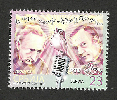 "SERBIA-MNH**-STAMP-60 years on radio show ""Good Morning Children""-2015."