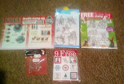 Cardmaking job lot clear stamps Christmas