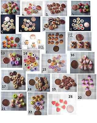 Miniature food  CAKES BISCUITS  DOLL FOOD  1 packet