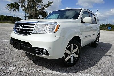 2012 Honda Pilot AWD Touring SUV with NAV DVD RES EXTRA CLEAN WHITE 2012 Honda Pilot Touring 4WD SUV FULLY LOADED NAVIGATION DVD RES CLEAN LQQK