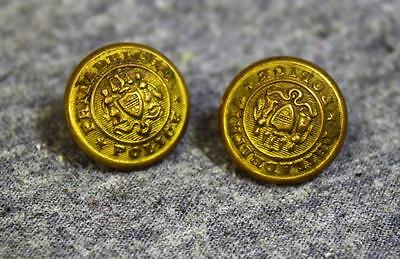 Antique Philadelphia Police Brass Button x2 Snellenburg & Co.