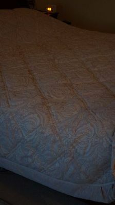 Christy Palest Pink Lightly Padded Bedspread Quilt Comforter Throw Double