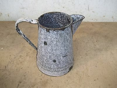 Old Graniteware Coffeepot  for  Flower Pot Garden Planter