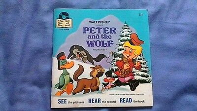 Walt Disney Read Along Book and Record 1970s Peter and the Wolf