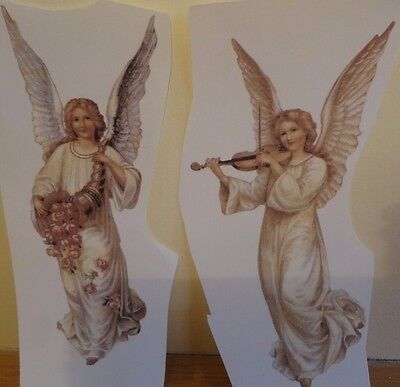Ceramic Decal    17 x  8 cm  GUARDIAN ANGELS  (Set of 2)