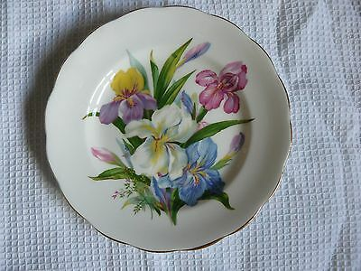 "Royal Standard ""Winsome"" bone china plate decorated with irises. VGC. Vintage"