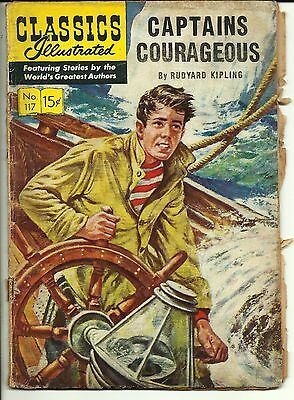 Classics Illustrated #117 [O] - Captains Courageous (Mar 1954, Gilberton)