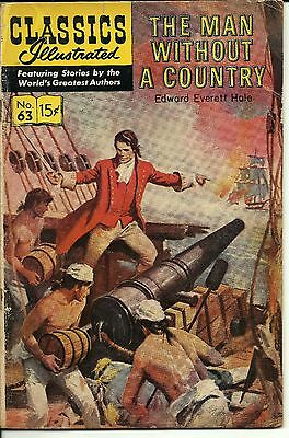 Classics Illustrated #63 [HRN165] - The Man Without A Country (Jan 1962,...