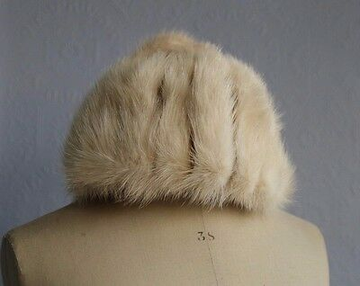 Vintage 100% Genuine Mink Fur Hat from Mitzi Boutique of London made in England