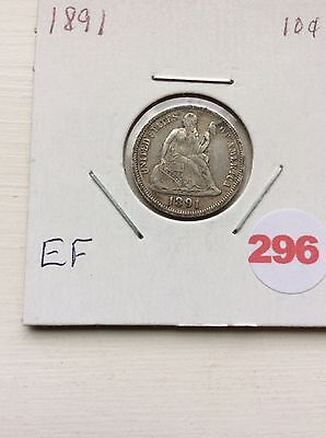 1891o Seated Liberty Dime- Better Date-type Set Coin