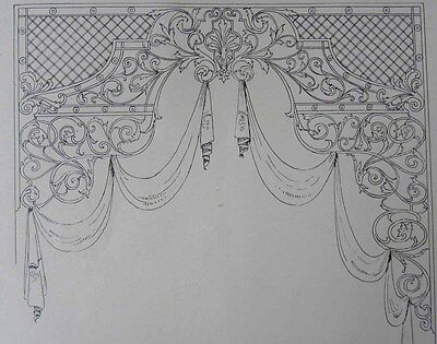 1905 Grille+Fret Work Catalog Architectural Ornament Interior Decorating Designs