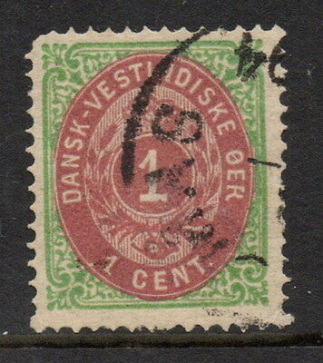Stamps Danish West Indies 1873 1 cent definitive