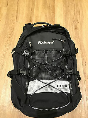 New Kriega R35 Motorcycle Rucksack Backpack 35Ltr Luggage Touring Commuting