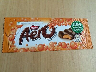Nestle Aero - Orange - Limited Edition. 2013. WRAPPER ONLY