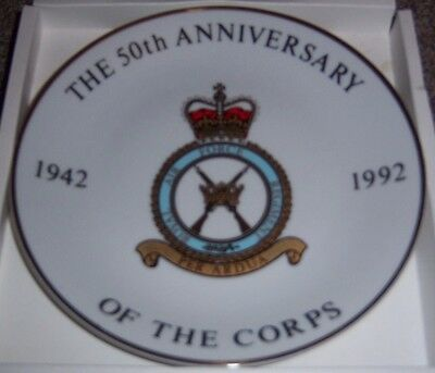 50th Anniversary 1942-1992 Royal Air Force Corps Collectors Plate Boxed