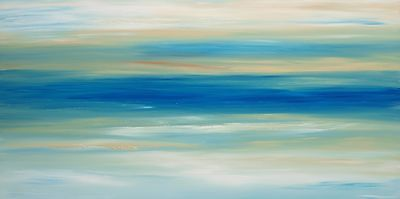 ABSTRACT ACRYLIC CONTEMPORARY LARGE SEASCAPE ORIGINAL PAINTING 120x60cm canvas