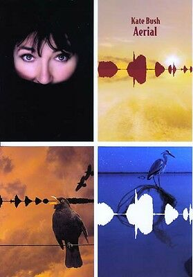 Kate Bush Aerial RARE promo collectible cards (set of 4) (in plastic sleeve)