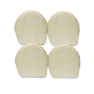 "ABN 5636 Canvas Wheel Covers 42"" Inch Set of 4 Best for RV, Camper, Trailer, Car"