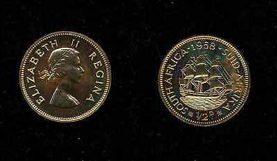South Africa  Elizabeth Ii   1958  1/2 Penny (Half-Penny) Proof Coin!
