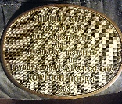 """Vintage Antiques Maritime Ship Brass Plaque & Signs """"shining Star"""