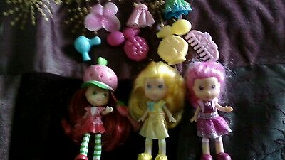 2008 strawberry shortcake(rare) and friends dolls