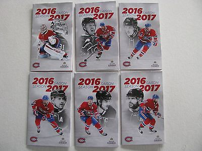 Montreal Canadiens pocket schedule 2016-17 complet set of 6.