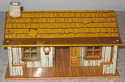 VINTAGE 1950's MARX TOY ROY ROGERS RODEO PLAY SET RANCH HOUSE CABIN