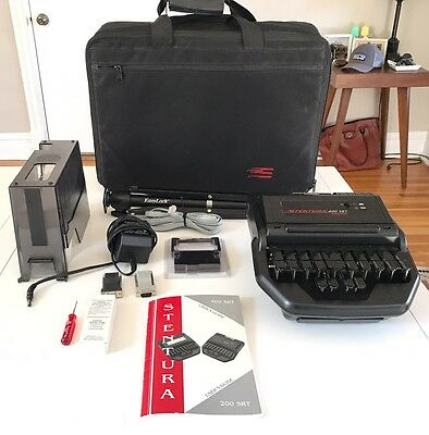 Stentura 400 Srt Electric Stenograph Bundle Accessories Travel Case And More Wow