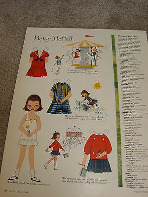 Vintage Betsy McCall Mag. Paper Doll, Betsy McCall Rides a Carosel , Aug. 1958