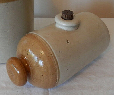 Vintage Antique Stoneware Bed Warmer Hot Water Bottle Collectable