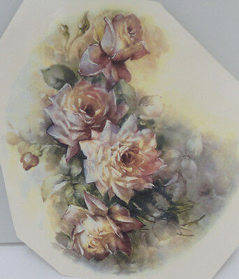 Ceramic Decal   21 x 19cm    SOFT ROSE