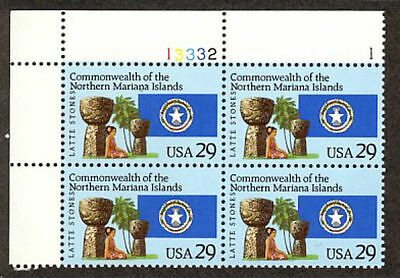 #2804  29 Cent Northern Marianas Islands     Mint  Vf Nh  O.g  Plate Block Of 4