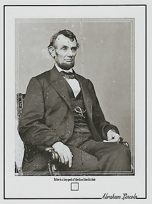 ABRAHAM LINCOLN worn owned personal HAIR STRAND tiny DUST SPECK sized