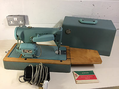 SINGER 285K ELECTRIC SEWING MACHINE 1960s - VGC - MADE IN BRITAIN