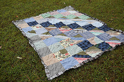 Patchwork Quilt Top Vintage