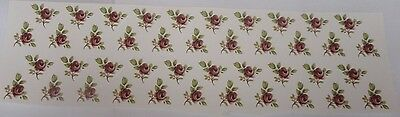 Ceramic Decal   Spot Rose   2 x 2 cm   (42 pieces)