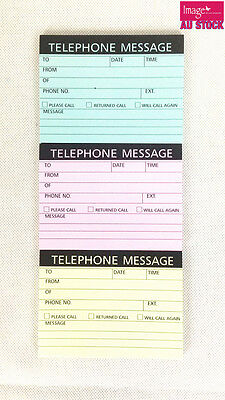 Pack of 3 Telephone Message Pad Self Adhesive STA074273