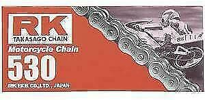 RK M530 Pitch Motorcycle ATV Natural Non O-Ring Chain X 120 LINKS 530 M530-120