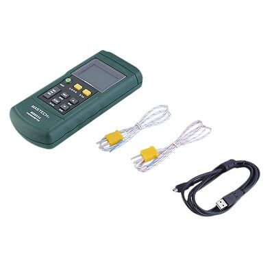 MASTECH MS6514 Dual Channel Digital Thermometer Temperature Logger Tester MF