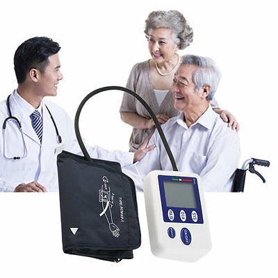 Automatic LCD Digital Upper Arm Style Blood Pressure Monitor Care Health MF