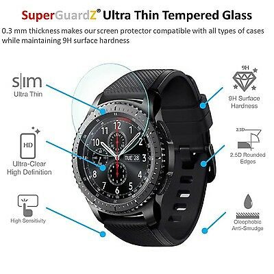 ANTI-SCRATCH TEMPERED GLASS 2PK Screen Protector Film Cover For SAMSUNG GEAR S3