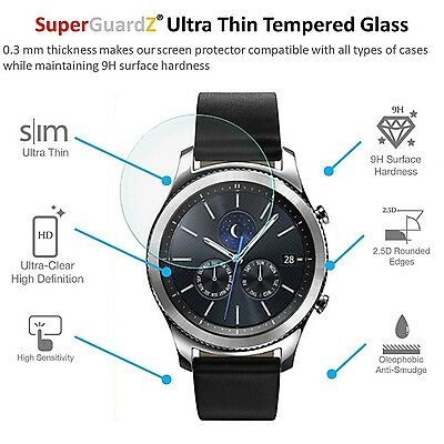 9H HARD TEMPERED GLASS 2PK Screen Protector Film Cover For SAMSUNG GEAR S3
