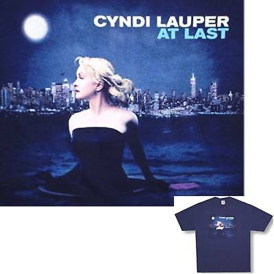 Cyndi Lauper! At Last Cover Art Blue T-Shirt Large New!