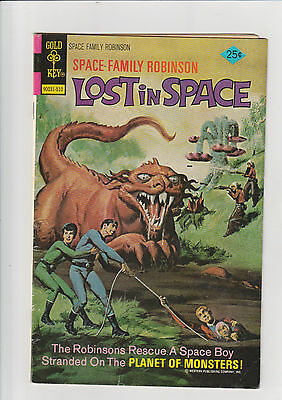 Space Family Robinson #45 VG  Gold key comic Lost in Space 1975