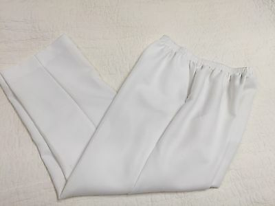 Alfred Dunner Women's Size 14 Pull-on Stretch Pants White