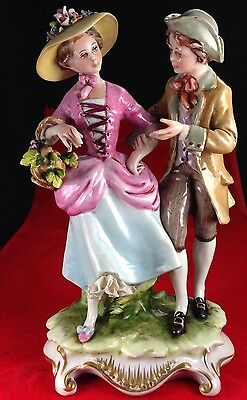 "Magnificent Rudolph Kammer Italy ""young Lovers"" Porcelain Figurine"