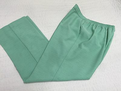 Alfred Dunner Women's Size 14 Pull-on Flat Front Pants Mint Green