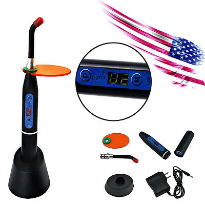 USA* Dental 10W Wireless Cordless LED Curing Light Lamp 2000mw-Black For Dentist