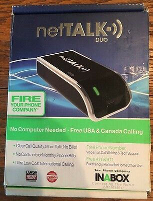 NetTalk DUO ~ VOIP ~FREE USA & Canada Calling